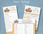 Twins Baby Shower Game Package Noah's Ark Printable Shower Games Twins Wishes for Baby Twins Baby Babble Game Baby Mad Libs INSTANT DOWNLOAD