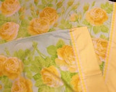 Vintage Sheet Set 4 Piece Queen Cottage Chic 1960s 1970s