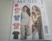 Pattern  Women Plus Size Tops 4 Styles Sizes 16 to 26 McCalls 6566