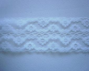 Lace 1144 White Lace Trim 2 3/8 inch Wide 5 yds Lace 1144