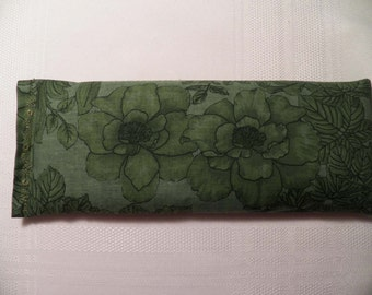 Eye Pillow - Green on Green Flowers