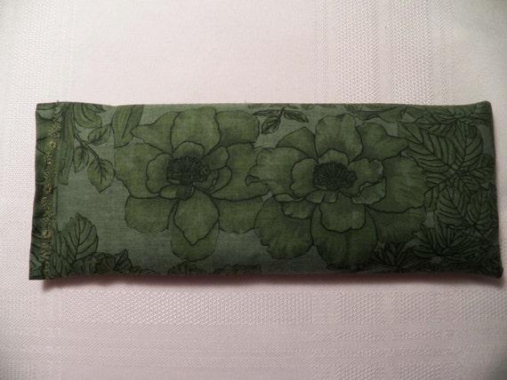 Eye Pillow - Green on Green Flowers