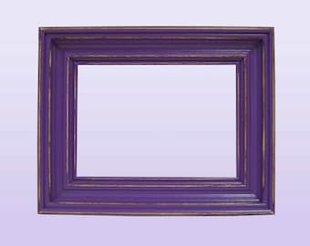 Picture Frame 5x7 Picture Frame Set Rustic Picture Frame 5x7 Shabby Chic Frames Home Decor Purple or Custom Color