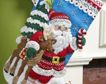 "Nordic Santa 18"" Bucilla Christmas Stocking,  PERSONALIZED"
