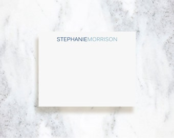 Personalized Note Card Set | Waterfall | Choose Your Colors