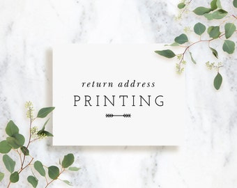 Return Address Printing for Invitations and Note Cards