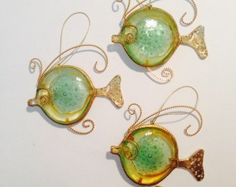 Three Little Fishies! Beautiful Ornaments for Mobiles, Beach Decor, Suncatchers, Christmas!