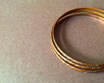 Vintage Copper Bangles, copper Bracelets, copper jewelry, Copper Plated, Summer Fashion, Vintage Jewelry