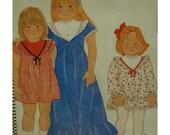"Girls V-Yoked Dress, Gathered Skirt, Hem Ruffle, Jewel Neck, Long/Short Sleeves, McCalls No. 6832 UNCUT Size 3 (Chest 22""56cm)"