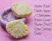 Butter Mold Monogram Butter Pat Monogrammed Silicone Mold Cupcake Topper Cake Decoration Molds Baking Tools