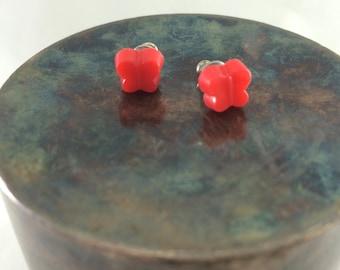 Bright butterfly earrings