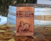 Vintage Tooled Leather Cowboy Wallet