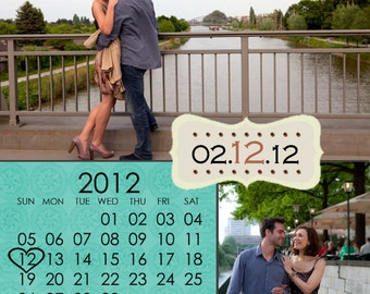 Calendar Save The Date Magnets Wedding Invitation Magnet Personalized Custom Save The Dates, Custom Color Save The Date Magnets, Wedding