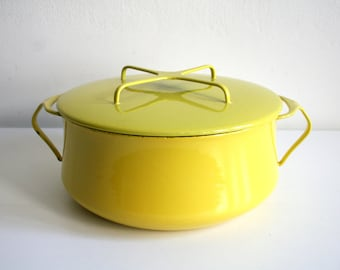 Dansk Yellow Kobenstyle Dutch Oven