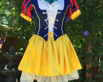 Snow White Inspired Princess Adult Costume, size 12-14 Large