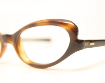 Very Small Tortoise Cat Eyeglasses Unused cat eye glasses vintage cateye frames eyeglasses NOS