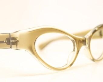NOS Brownsmoke  Cat Eyeglasses Unused cat eye glasses vintage cateye frames eyeglasses NOS