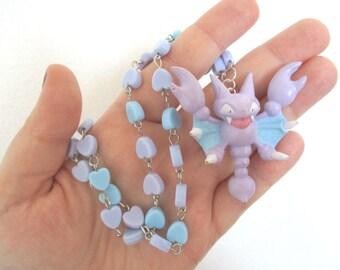 Pokémon Necklace - Gligar TOMY Figure Necklace - Decora, Kawaii, Pastel Goth