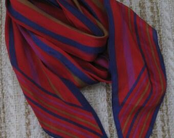 Liz Claiborne Scarlet Stripe Silk Scarf