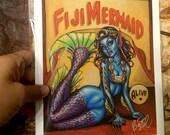 Fiji Mermaid small Art Print