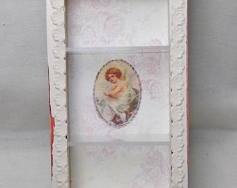 Dollhouse Miniature Shabby Chic Cabinet