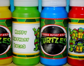 Teenage Mutant Ninja Turtles Bubble Wraps and Toppers - Set of 12/each