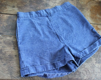 1960s Shorty Shorts // High Waisted Hot Pants // small