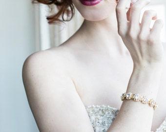 Bridal Bracelet, Bridal Cuff, Wedding Cuff, Bridal Jewelry, Cuff Bracelet, Wedding Jewelry, Bridal Accessories