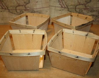 Vintage Berry Containers - set of 4 - item #1461