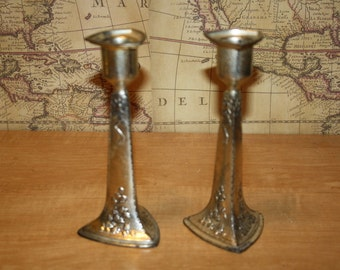 Holly Candlesticks - made in Japan - set of 2 - item #1773