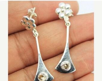 VALENTINE SALE 55% Zircon Sterling Silver Earrings 1583ER