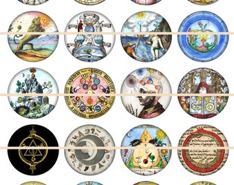 Alchemy Magnets Pins Gift Sets Party Favors Esoteric Alchemy Wedding Favors
