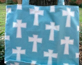 Summer Bag, Crosses, Naval, Reversible , Shoulder  Bag
