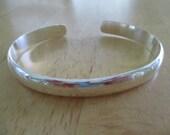 Vintage costume jewelry  /  925 sterling  bracelet
