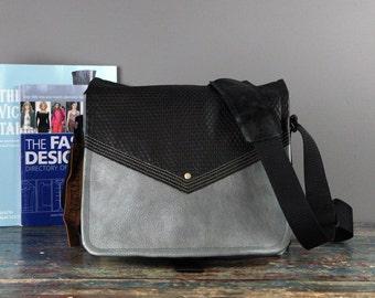 NEW - Leather Commuter Bag New Satchel  -  Book Bag Ipad Tablet Bag Travel Bag Leather