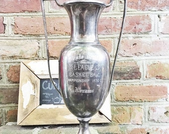 SALE Vintage 1926 Silverplated Basketball Trophy