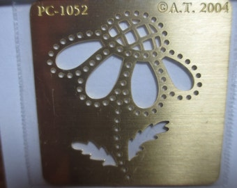 Brass Flower Stencil A. T. - PC-1052