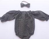 Tessa long sleeves romper, long sleeves leotard, baby leotard, baby playsuit, baby romper, baby sunsuit, baby jumper, toddler playsuit