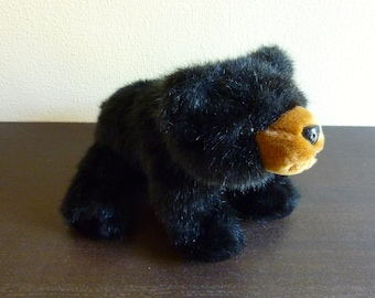 Vintage Plush Black Bear by The Bearington Collection