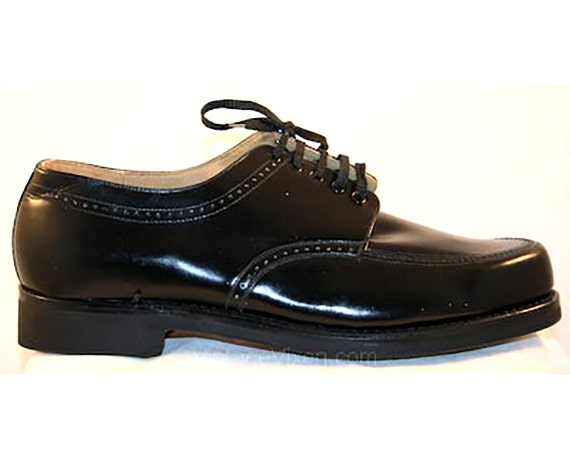 size 9 5 shoes 1950s black s chunky oxfords by