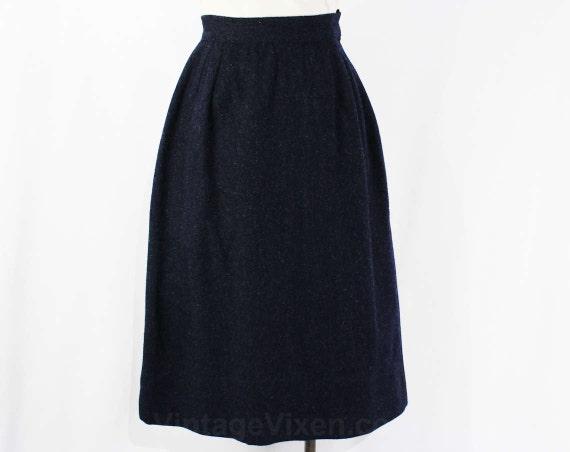 xxs navy wool skirt 1960s a line skirt blue tailored