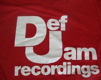 Vintage 80's Def Jam Recordings Beastie Boys LL Cool J Public Enemy Music Promo T shirt M