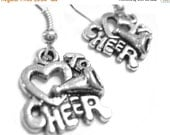 VALENTINES DAY SALE - Cheerleading Gift - Cheerleader Gift - Cheer Mom Jewelry - Sterling Silver Cheer Earrings 031
