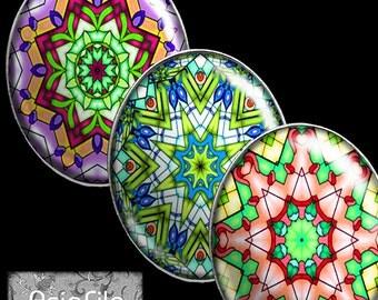 Digital Printable Mandalas 30mm X 40mm Ovals Pendants Cabochons Bezels Scrapbook Paper Crafts Collage Sheet Instant Download CS 491