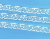 Doll Dress Supplies - White French Cotton Lace Edging - Heirloom Sewing Supplies