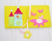 Felt book , baby personalized gifts , quiet book , soft book , teething ring , teething toy , activity pages , busy book , activity book