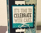 Celebrate with Cake Handmade Pop Out Birthday Card