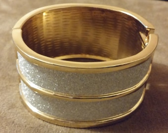 Gold & Silver Sparkling Bangle Bracelet