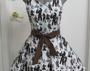 Star Wars Heros All Over Apron - Full of Twirl - Ready to Ship