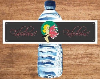 Instant Download Fabulous 1920s Gatsby Party Water Bottle Labels